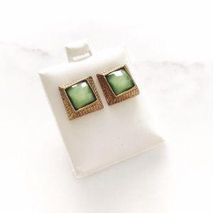 Golden Jade Earrimgs
